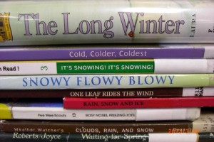 Book Spine Poem Closeup