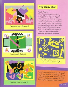 p. 23 of Activities and Adventures in Abstract Art. Click to enlarge.
