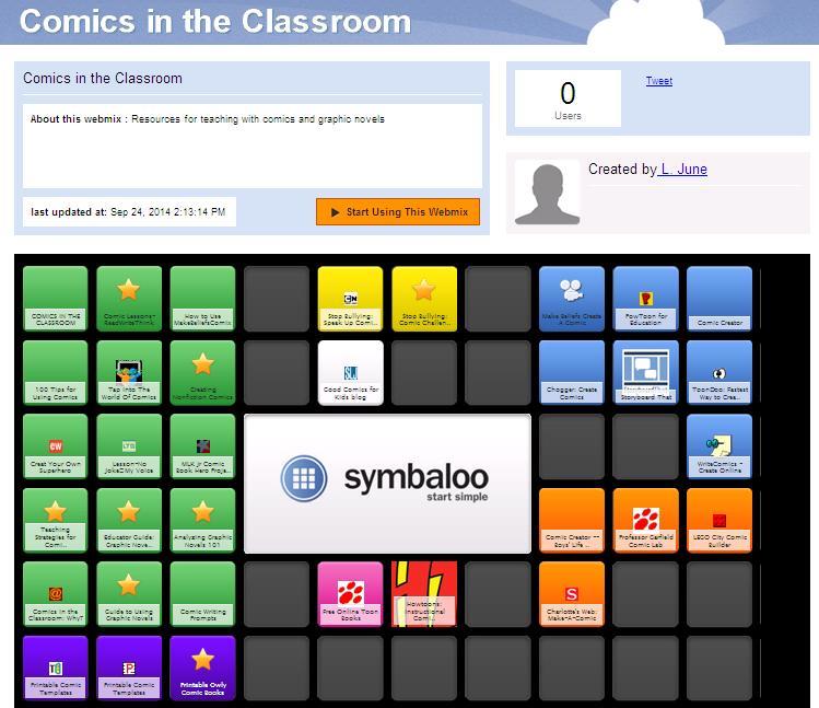 symbaloo comics webmix