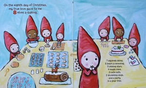 Spread from THE 12 DAYS OF CHRISTMAS.