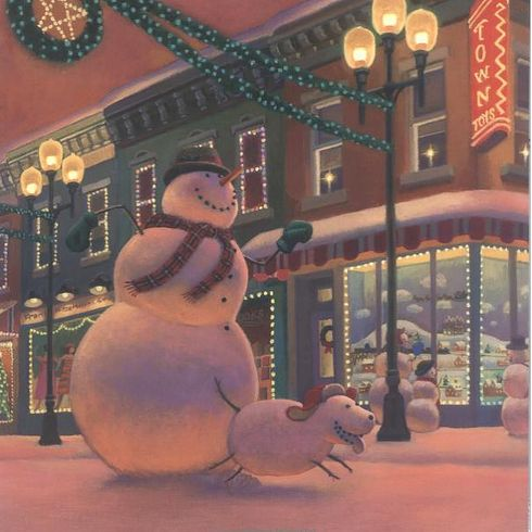 Illustration from SNOWMEN AT CHRISTMAS.