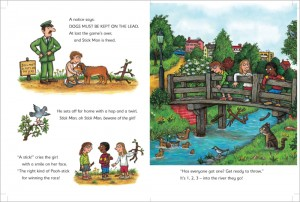 A spread from STICK MAN.