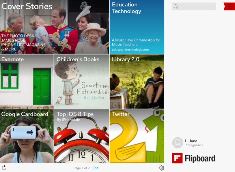 Finally Using Flipboard | The Learning Librarian